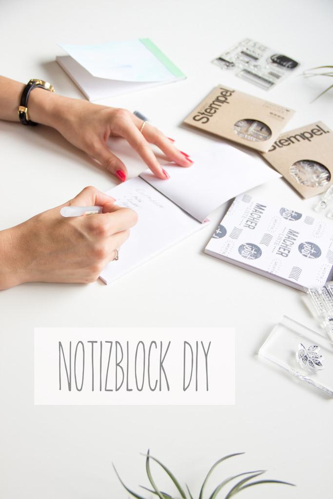 Notizblock DIY mit den Papierprojekt Moment-Stempeln by ScateredConfetti