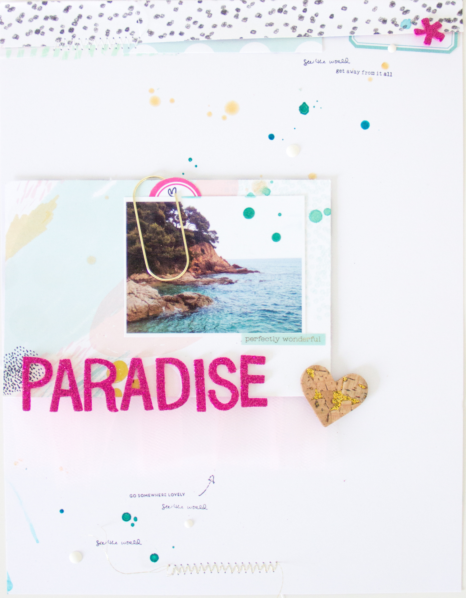 Paradise_Scrapbooking_Layout_ScatteredConfetti_ScrapbookWerkstatt_Bloghop_7Paper_0