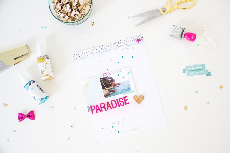 Paradise_Scrapbooking_Layout_ScatteredConfetti_ScrapbookWerkstatt_Bloghop_7Paper_1