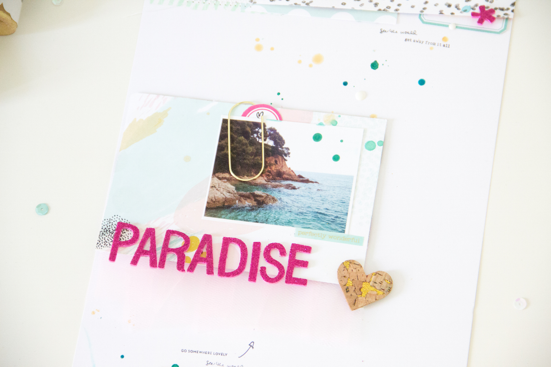 Paradise_Scrapbooking_Layout_ScatteredConfetti_ScrapbookWerkstatt_Bloghop_7Paper_3