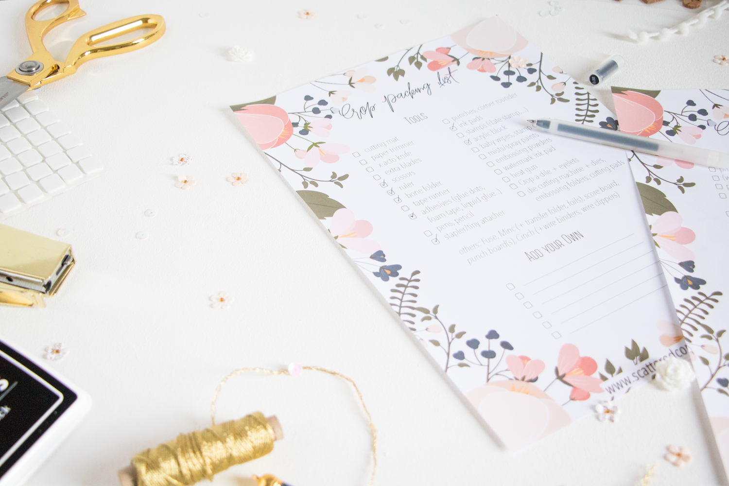 Crop Packing List/Checklist by ScatteredConfetti. // #scrapbooking #papercrafting #memorykeeping