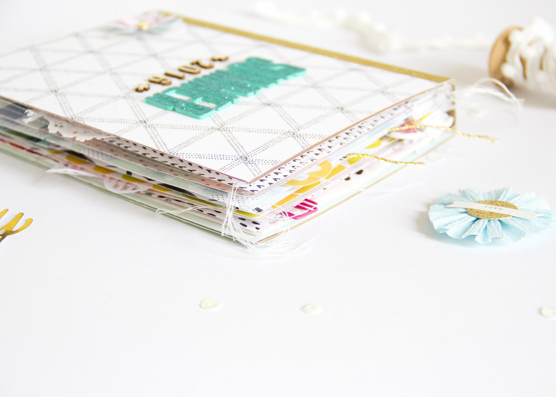 Summer Mini Album by ScatteredConfetti // #scrapbooking #minialbum #cratepaper #americancrafts