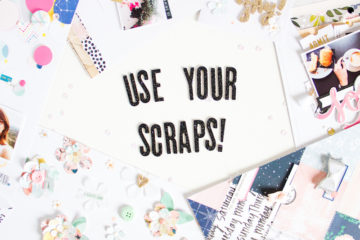 Use Your Scraps! - Scrapbooking Class at Big Picture Classes by ScatteredConfetti // #layout