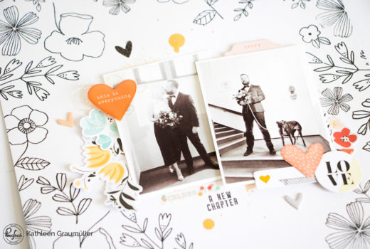 A New Chapter by ScatteredConfetti for Pinkfresh Studio Designer Spotlight. // #scrapbooking