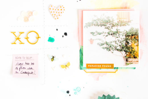 Paradise Found by ScatteredConfetti. // #scrapbooking #citrustwistkits #cratepaper