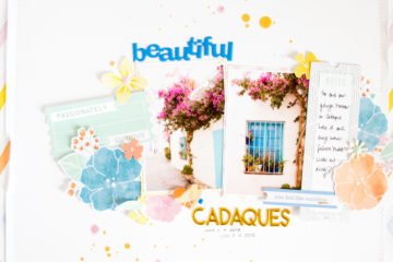 Beautiful Cadaqués by ScatteredConfetti. // #scrapbooking #pinkfreshstudio