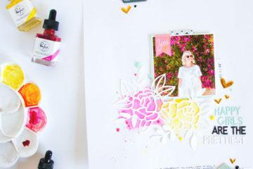 Happy Girls by ScatteredConfetti. // #scrapbooking #pinkfreshstudio