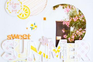 Sweet Summer by ScatteredConfetti. // #pinkfreshstudio #scrapbooking #scraplift