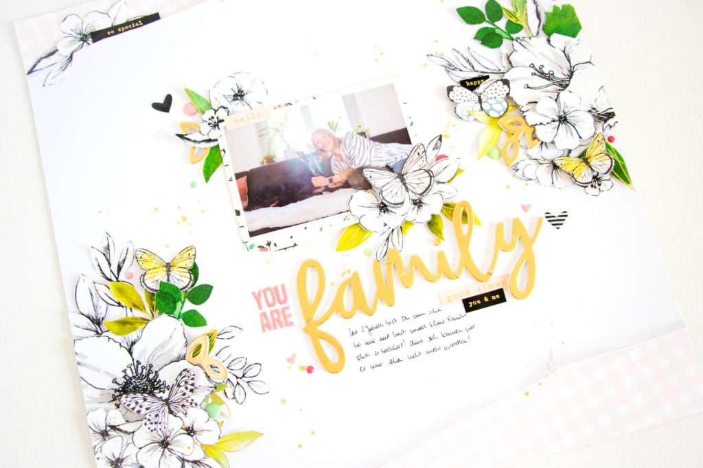 You are Family by ScatteredConfetti. // #scrapbooking #layout #altenew