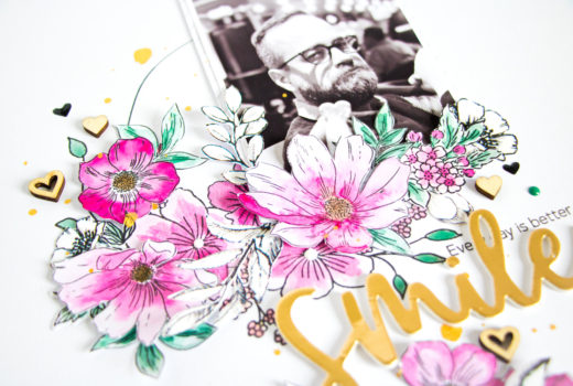 Smile by ScatteredConfetti. // #scrapbooking #altenew #stamping