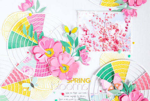 Spring Blooms by ScatteredConfetti. // #scrapbooking #altenew #diecutting