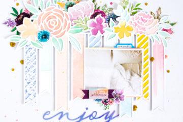 Enjoy by ScatteredConfetti. // #scrapbooking #layout #pinkfreshstudio