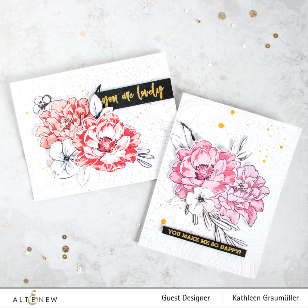 Floral Cards by ScatteredConfetti. // #stamping #altenew